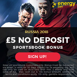 EnergyBet Betting Site: £€ 5 Free Bet No Deposit! - Betting